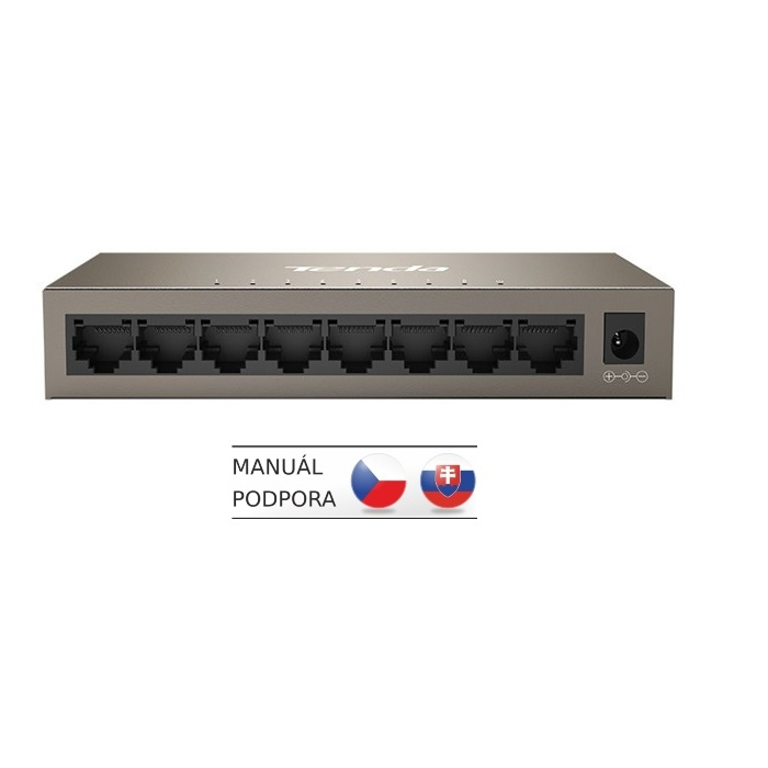 Tenda TEG1008M - 8-port 10/100/1000Mb/s Gigabit Ethernet Switch, Rackmount, Fanless. kov.